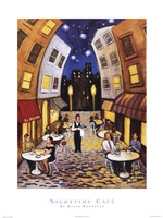Nighttime Cafe Fine Art Print