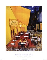 Cafe Terrace Framed Print