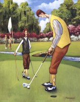 Putting for Birdie Framed Print