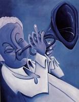 Blue Jazzman I Fine Art Print