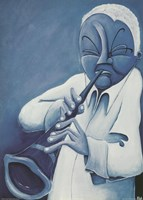 Blue Jazzman IV Framed Print