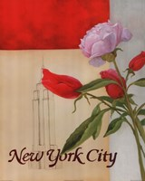 New York Floral Views Fine Art Print