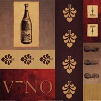 Vino in Red II Fine Art Print