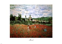 Field of Poppies, Vetheuil Framed Print