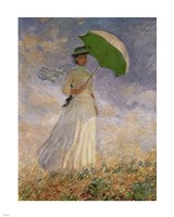Woman with Sunshade Framed Print