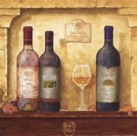 Wine Bottle Cluster III Fine Art Print