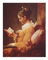 A Young Girl Reading Framed Print