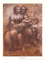 The Virgin and Child with St. Anne Fine Art Print