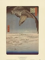 Eagle Flying over the Fukagama District Fine Art Print