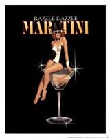 Razzle Dazzle Martini Framed Print