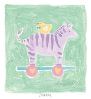 Zebra Toy Framed Print