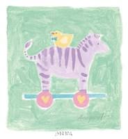 Zebra Toy Framed Print