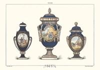 Porcelain Vases Framed Print