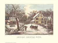 American Homestead Winter Framed Print