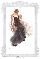 Fashion Modes - Black Dress Framed Print