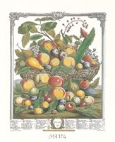 July/Twelve Months of Fruits, 1732 Fine Art Print