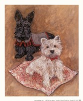 Scotties Framed Print