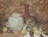 Ginger Jar with Bird Nest Fine Art Print