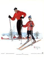 Ski Skills Framed Print
