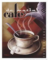 Cafe de Matin Framed Print