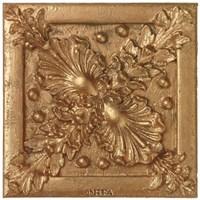 Copper Floral Rosette Fine Art Print