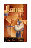 Lemon Drop Martini Bar Fine Art Print