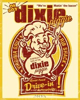 Dixie Piggie Drive-In Framed Print