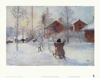 The Yard and the Washhouse Fine Art Print