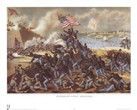 Storming Fort Wagner Fine Art Print