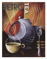 Retro Tea Framed Print