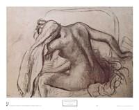 Woman Drying Her Neck Fine Art Print