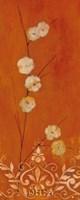 Sienna Flowers I Framed Print