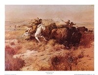 Indian Buffalo Hunt Framed Print