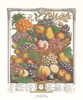October/Twelve Months of Fruits, 1732 Framed Print