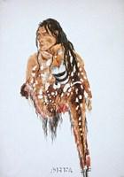 Ihkas-Kinne, Siksika Blackfeet Chief Framed Print