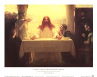 Christ and the Disciples at Emmaus Fine Art Print