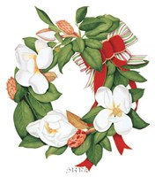 Magnolia Wreath Fine Art Print