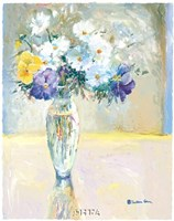 Daisies and Pansies, a Loose Bond Fine Art Print