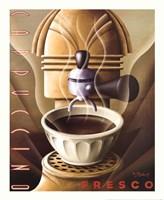 Cappuccino Fresco Framed Print
