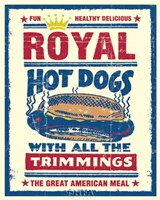 Royal Hot Dogs Framed Print