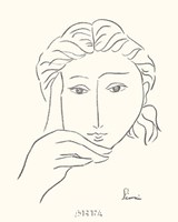 Woman's Face Sketch I Fine Art Print