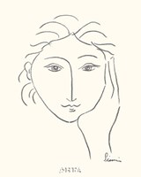 Woman's Face Sketch II Fine Art Print