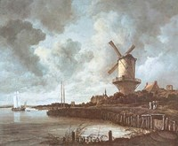 Windmill Near Wijk Fine Art Print