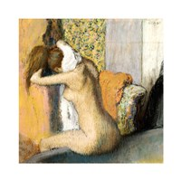After the Bath, Woman Drying her Neck Fine Art Print