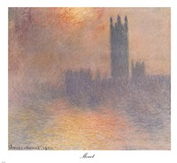 London Houses of Parliament Fine Art Print