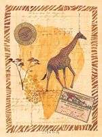 Travel Giraffe Fine Art Print