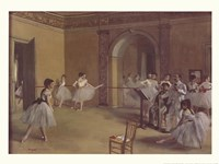 Dance Foyer at the Opera Framed Print