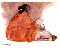 Seated Woman Fine Art Print