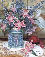 Pink Tiger Lilies with Cinnabar Fine Art Print