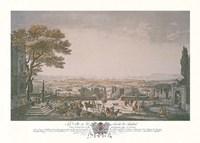 La Ville et la Rade de Toulon Framed Print